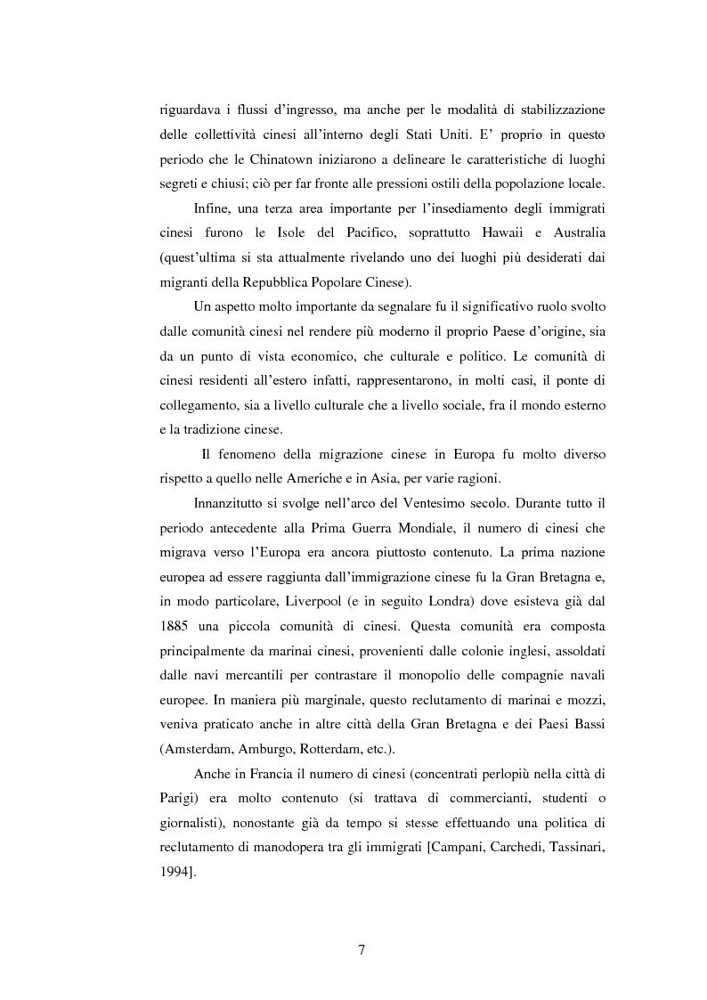 Anteprima della tesi: Immigrazione e imprenditoria cinese nel distretto di Prato, Pagina 5
