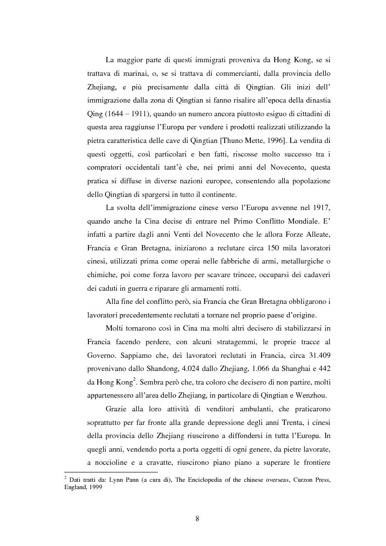 Anteprima della tesi: Immigrazione e imprenditoria cinese nel distretto di Prato, Pagina 6