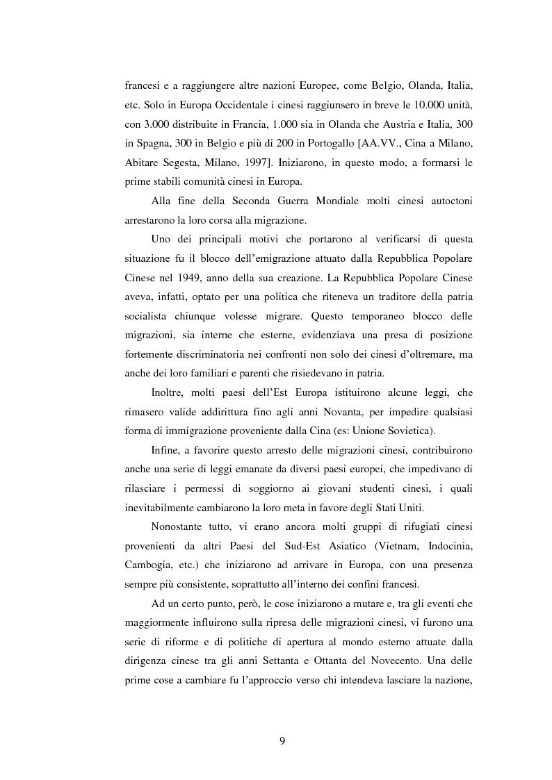 Anteprima della tesi: Immigrazione e imprenditoria cinese nel distretto di Prato, Pagina 7
