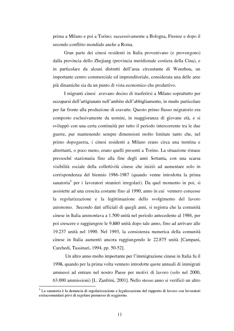 Anteprima della tesi: Immigrazione e imprenditoria cinese nel distretto di Prato, Pagina 9