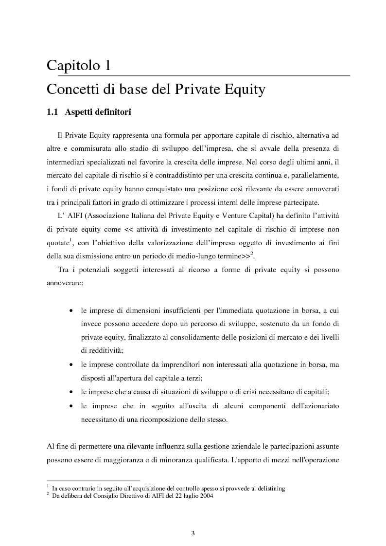Anteprima della tesi: Il Private Equity nelle imprese in crisi: il caso Ferretti, Pagina 1