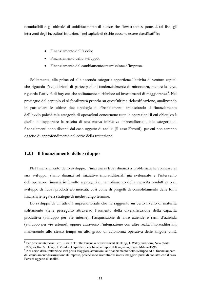 Anteprima della tesi: Il Private Equity nelle imprese in crisi: il caso Ferretti, Pagina 9