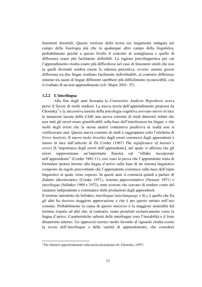 Anteprima della tesi: Strategie di acquisizione nell'italiano dei cinesi, Pagina 6