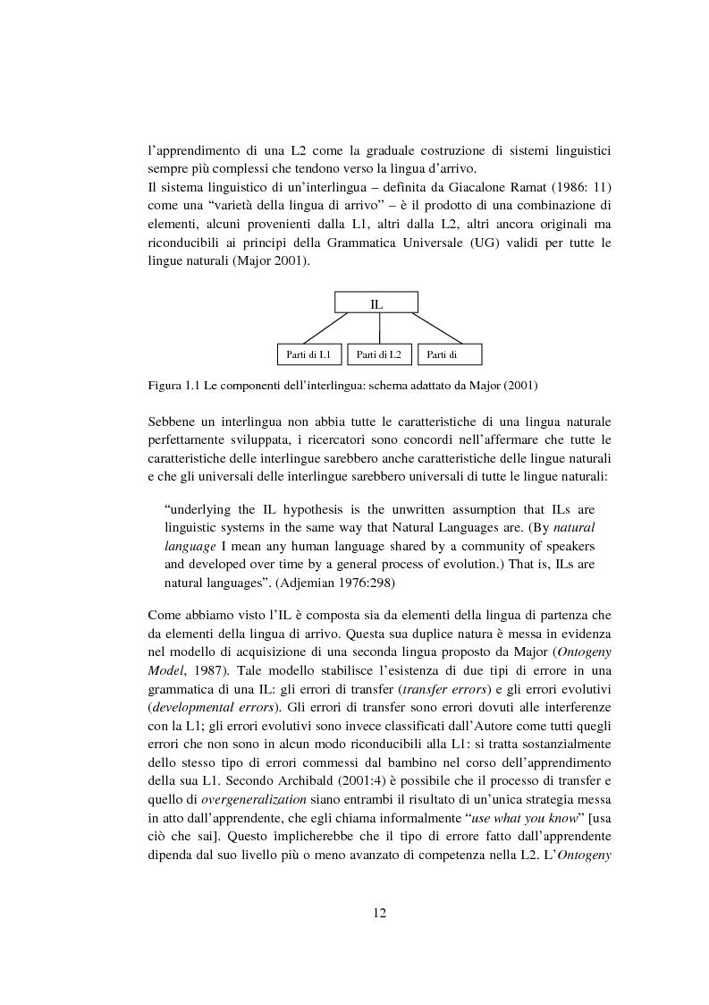 Anteprima della tesi: Strategie di acquisizione nell'italiano dei cinesi, Pagina 7