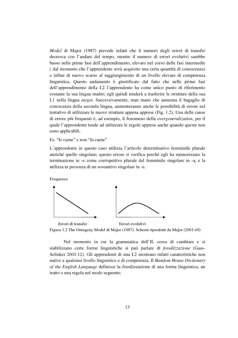 Anteprima della tesi: Strategie di acquisizione nell'italiano dei cinesi, Pagina 8