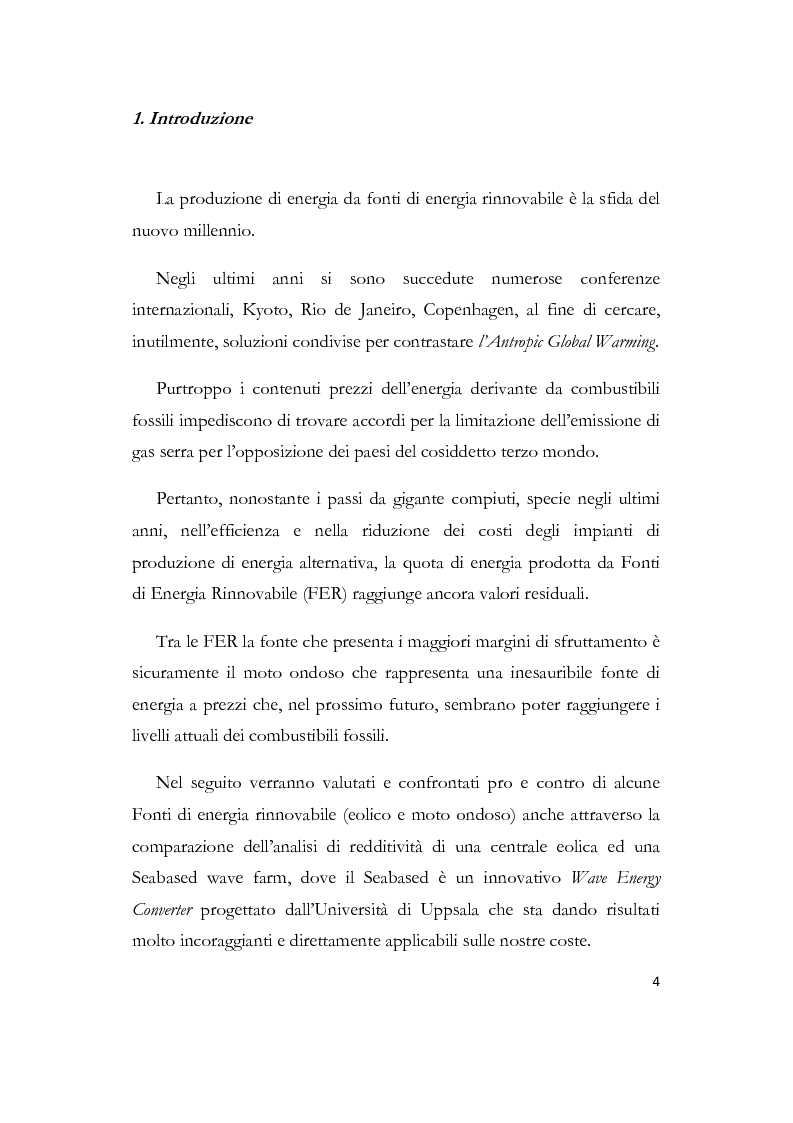 Anteprima della tesi: Conversione di energia dal moto ondoso: il seabased, una alternativa sostenibile all'eolico off-shore, Pagina 1