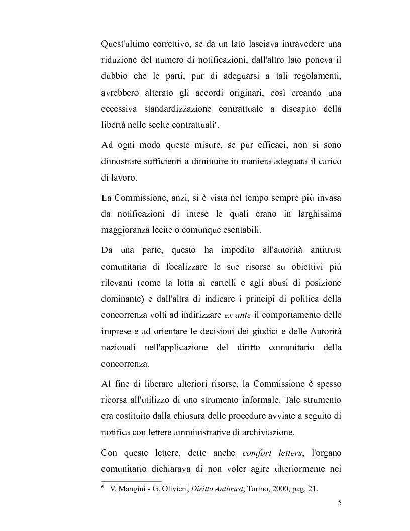 Anteprima della tesi: La disciplina antitrust alla luce del regolamento n. 1/2003, Pagina 5
