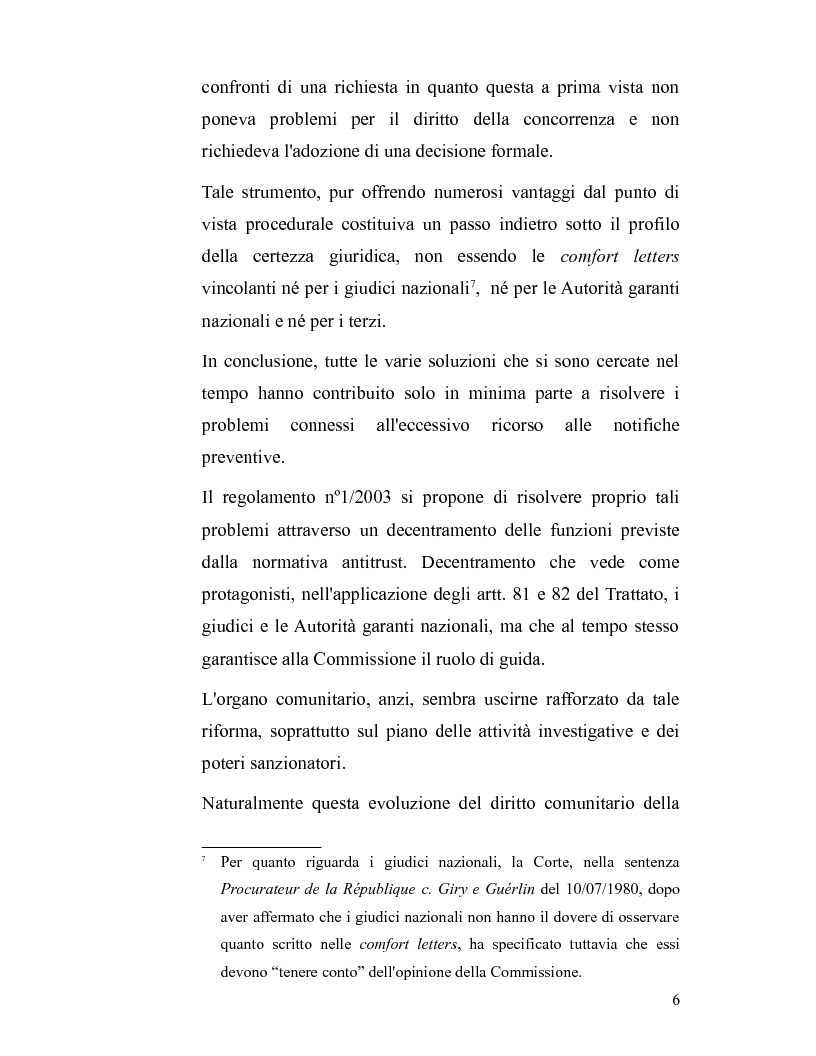 Anteprima della tesi: La disciplina antitrust alla luce del regolamento n. 1/2003, Pagina 6