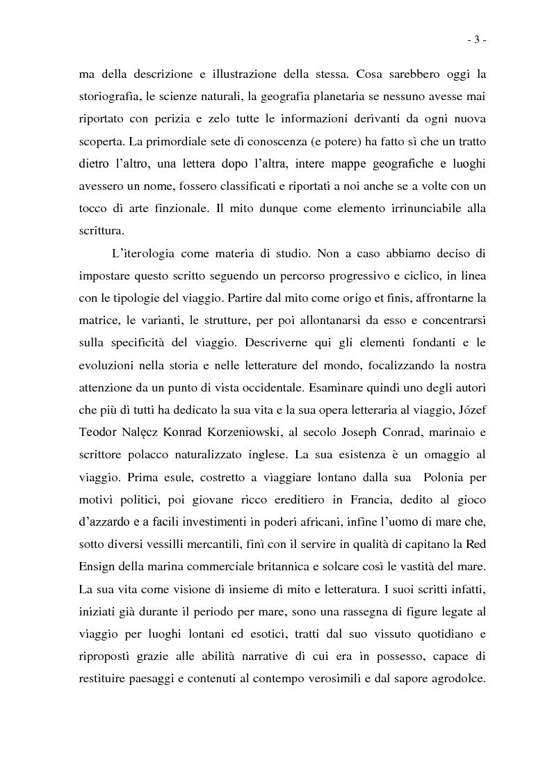 Anteprima della tesi: Joseph Conrad e il Mito del Viaggio. Nostromo e Heart of Darkness tra letteratura e cinema, Pagina 3