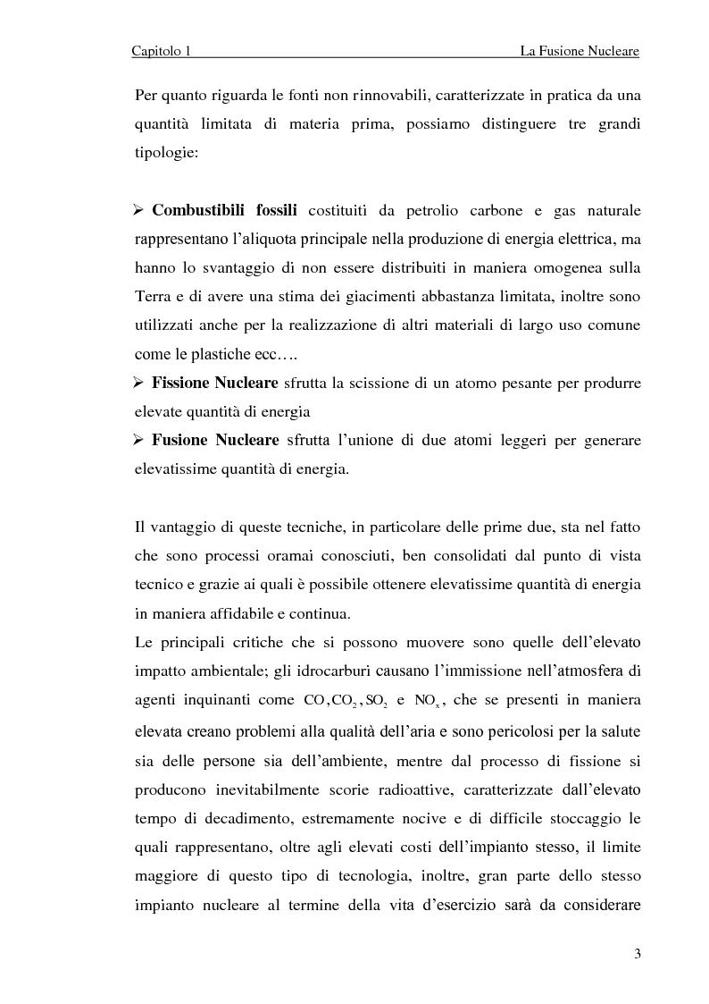 Anteprima della tesi: Analisi elettromeccanica di dispositivi per la fusione termonucleare controllata, Pagina 3