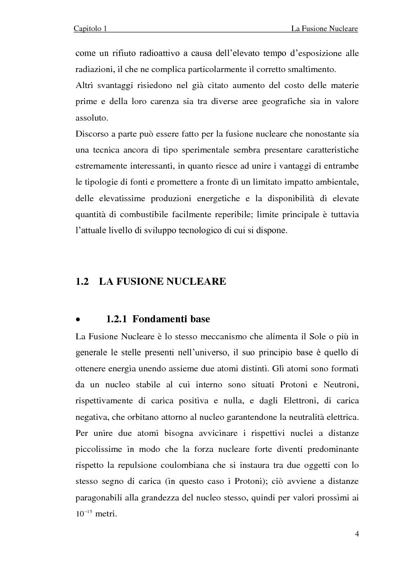 Anteprima della tesi: Analisi elettromeccanica di dispositivi per la fusione termonucleare controllata, Pagina 4