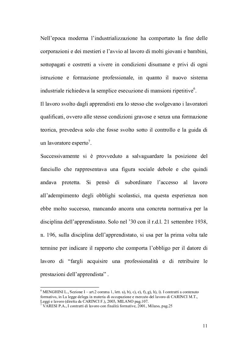 Anteprima della tesi: L'apprendistato nella legislazione nazionale e regionale, Pagina 10