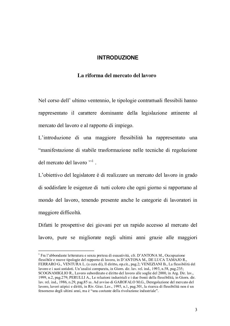 Anteprima della tesi: L'apprendistato nella legislazione nazionale e regionale, Pagina 2