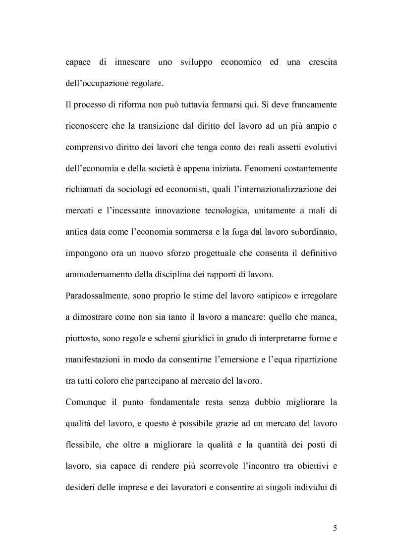 Anteprima della tesi: L'apprendistato nella legislazione nazionale e regionale, Pagina 4