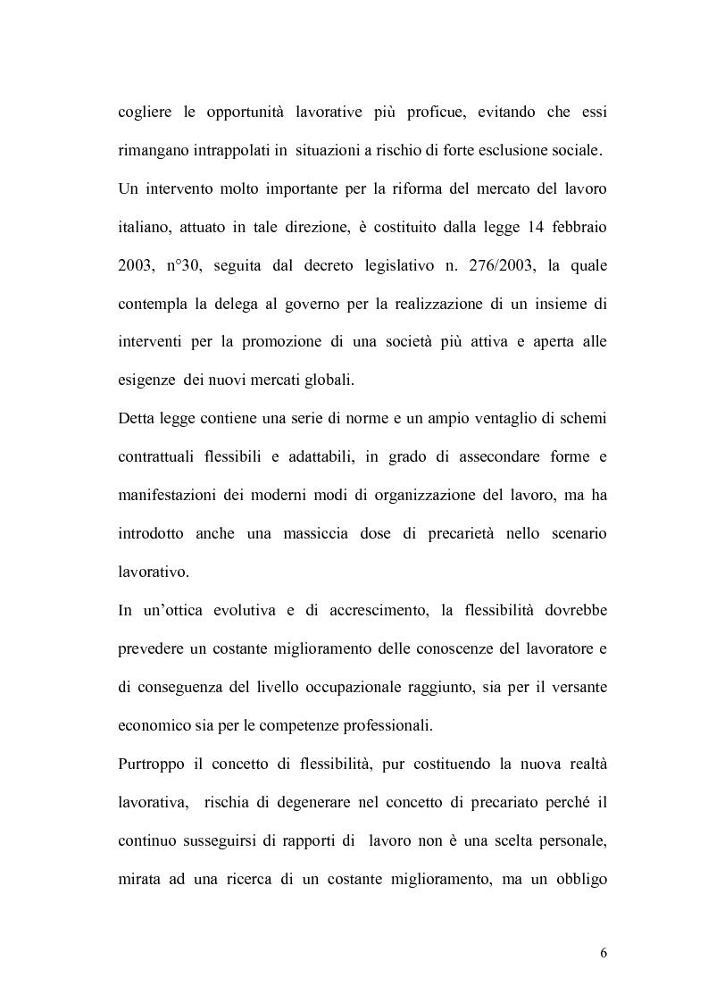 Anteprima della tesi: L'apprendistato nella legislazione nazionale e regionale, Pagina 5