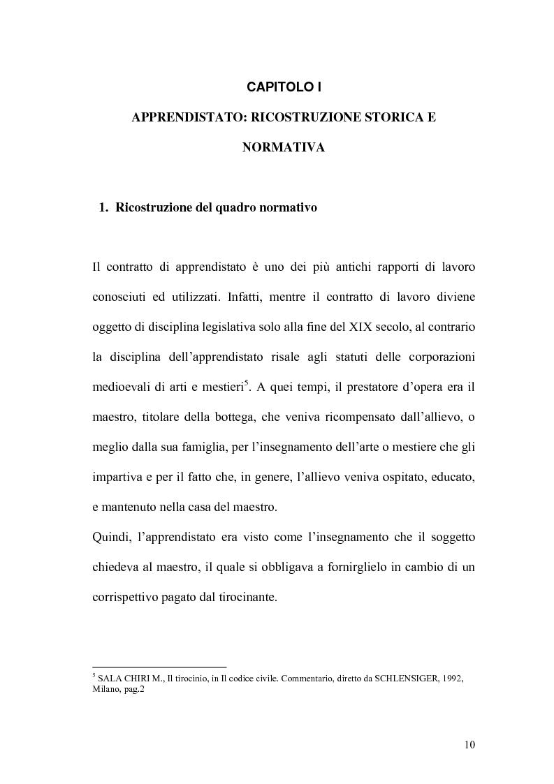 Anteprima della tesi: L'apprendistato nella legislazione nazionale e regionale, Pagina 9