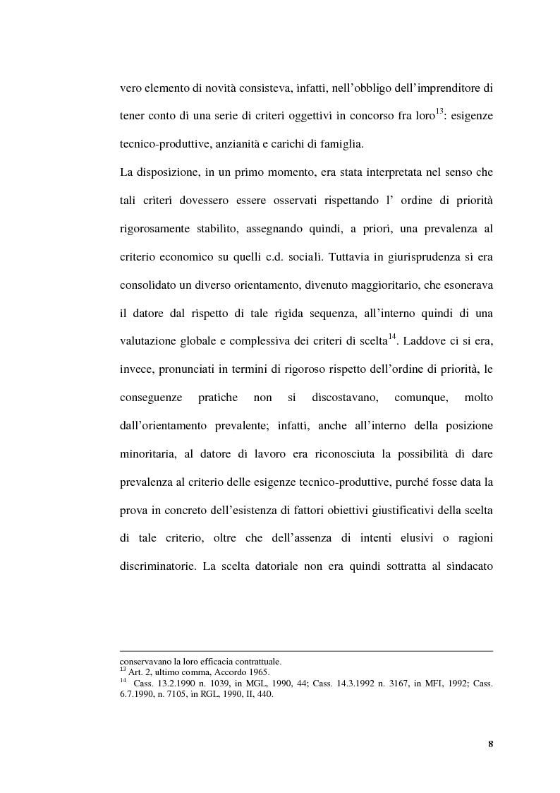 Anteprima della tesi: Licenziamenti collettivi per riduzione di personale, Pagina 6