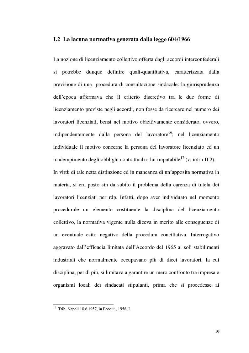 Anteprima della tesi: Licenziamenti collettivi per riduzione di personale, Pagina 8