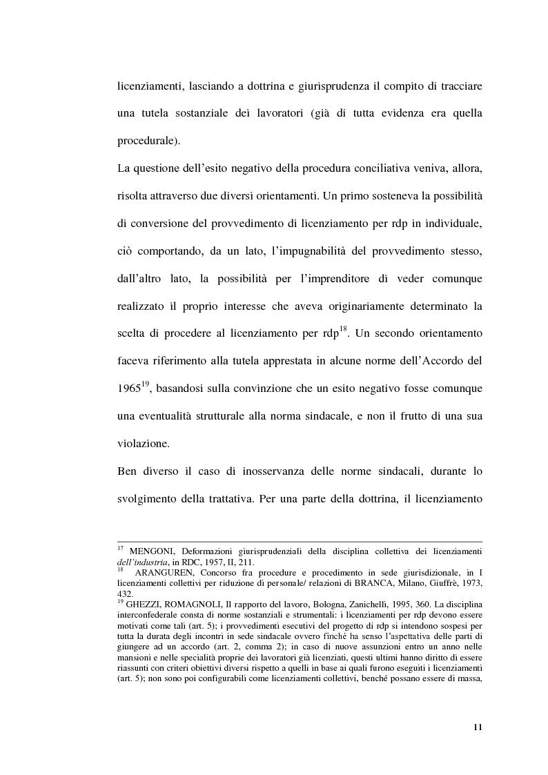 Anteprima della tesi: Licenziamenti collettivi per riduzione di personale, Pagina 9