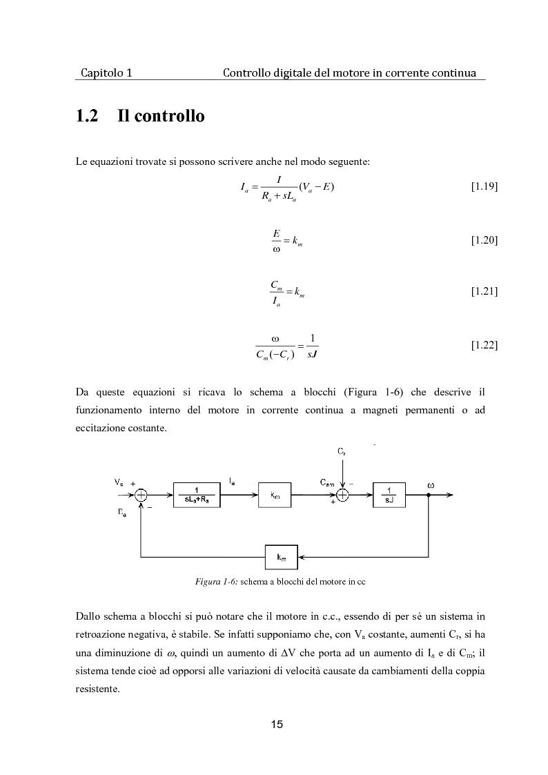 Anteprima della tesi: Controllo digitale di un banco freno per la caratterizzazione di motori elettrici, Pagina 10