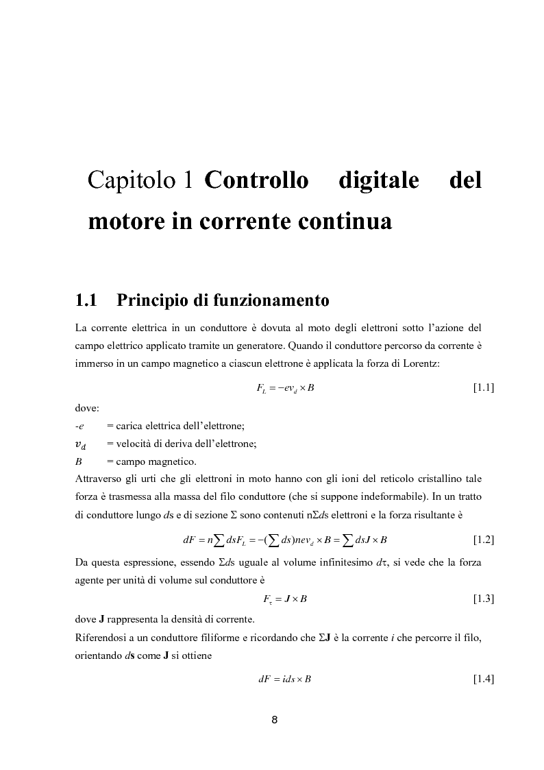 Anteprima della tesi: Controllo digitale di un banco freno per la caratterizzazione di motori elettrici, Pagina 3