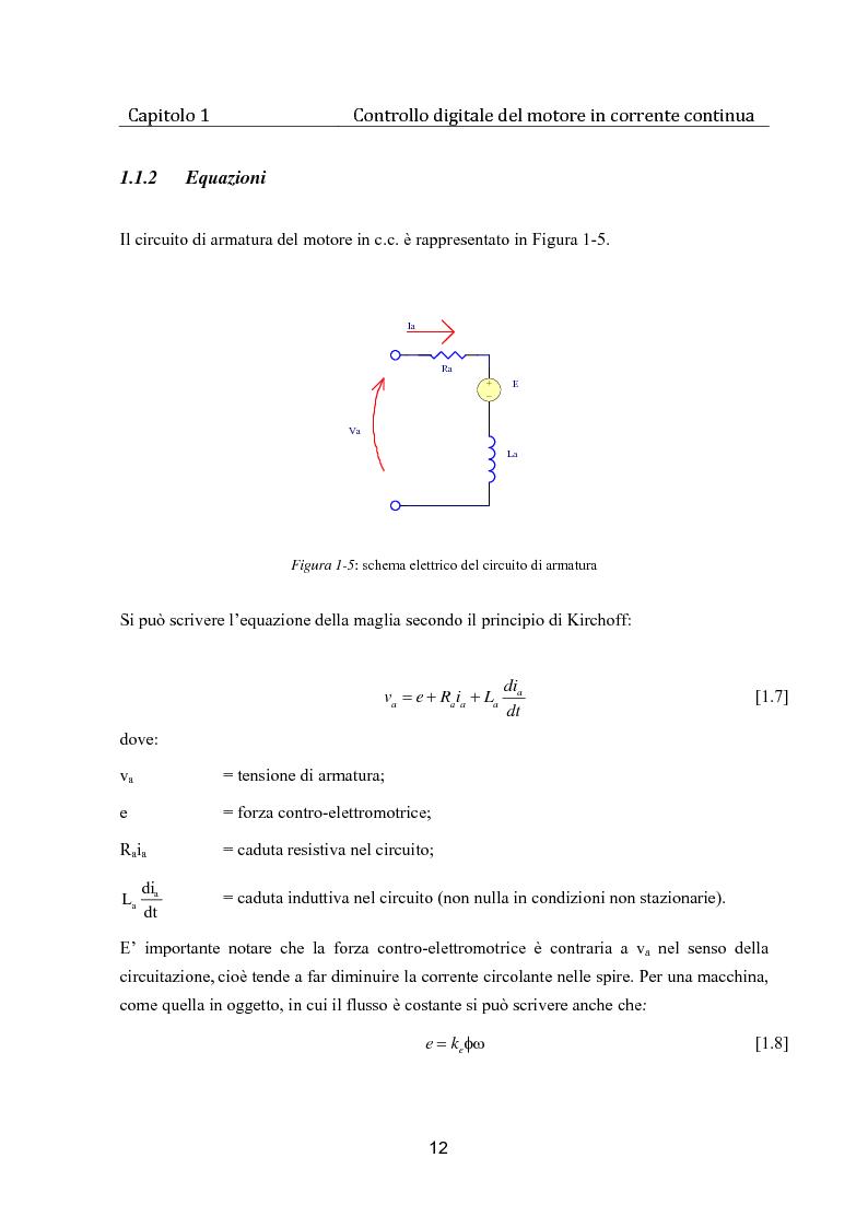 Anteprima della tesi: Controllo digitale di un banco freno per la caratterizzazione di motori elettrici, Pagina 7