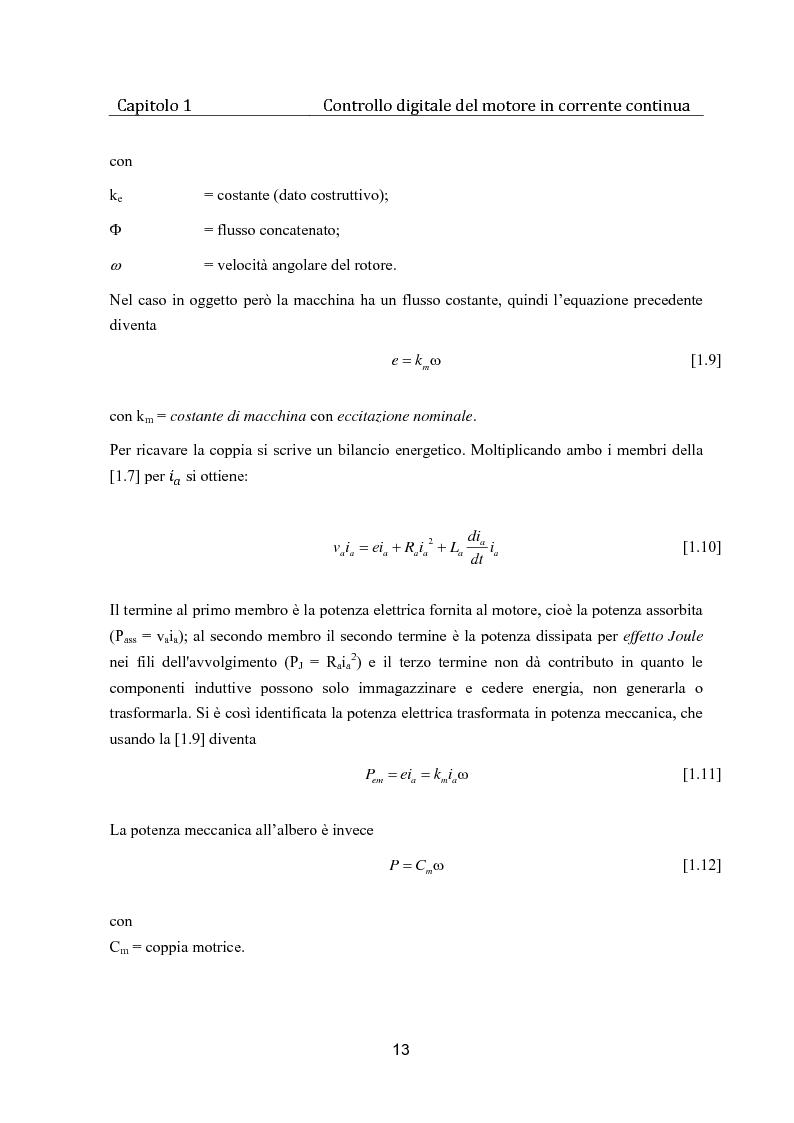 Anteprima della tesi: Controllo digitale di un banco freno per la caratterizzazione di motori elettrici, Pagina 8