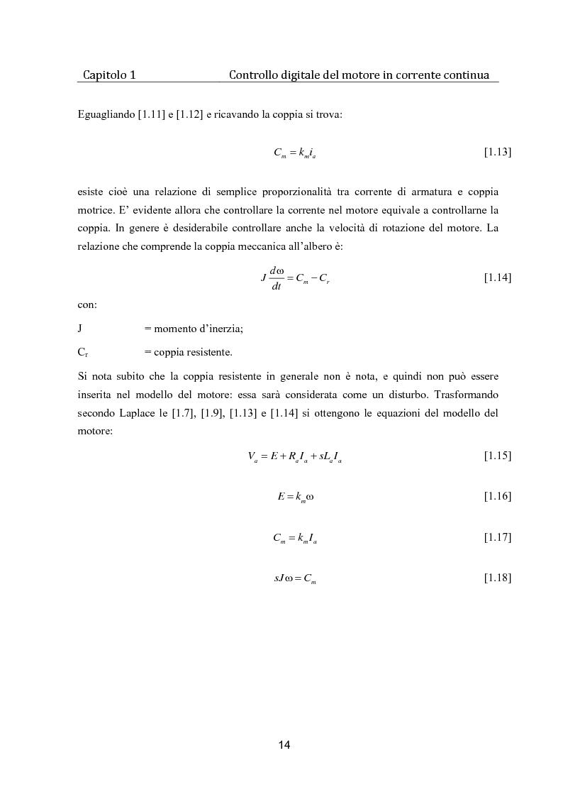 Anteprima della tesi: Controllo digitale di un banco freno per la caratterizzazione di motori elettrici, Pagina 9
