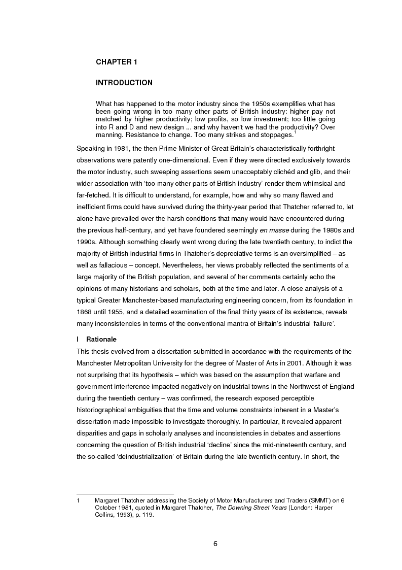 Anteprima della tesi: L. Gardner and Sons Limited: The History of a British Industrial Firm. A Study with Special Reference to Markets, Workplace Industrial Relations, and Manufacturing Engineering Technology, 1955 – 1986, Pagina 1