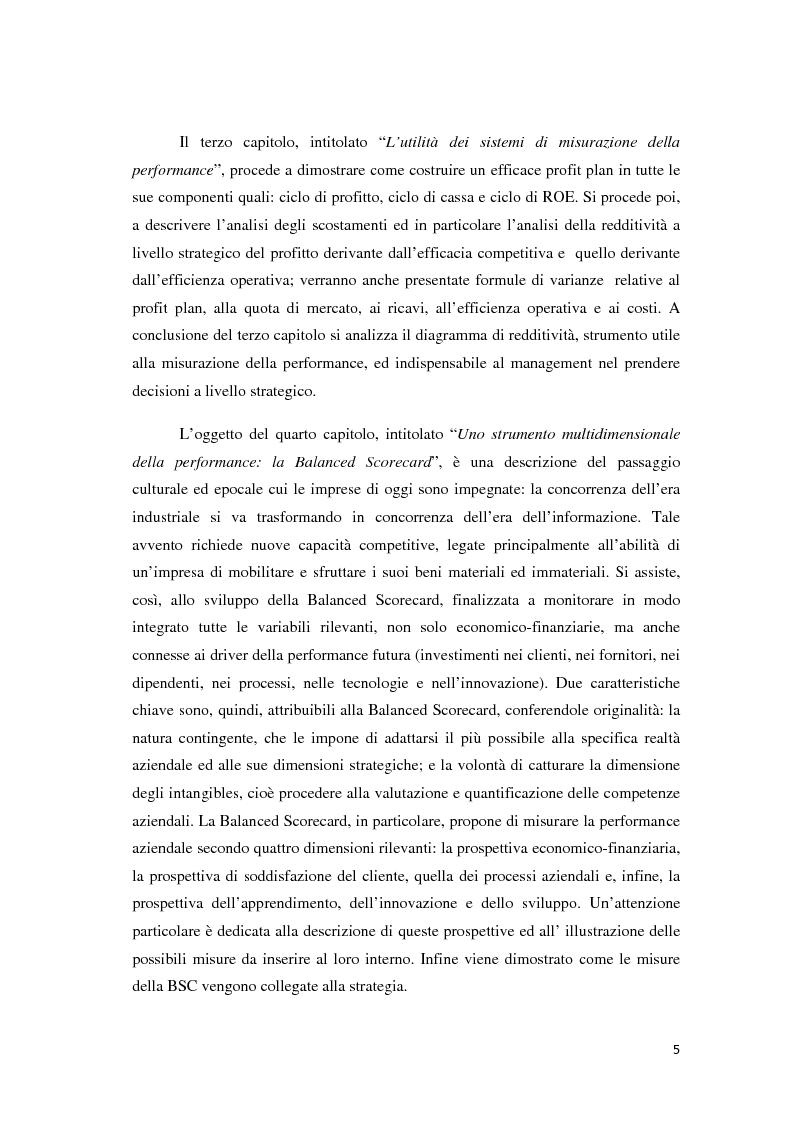Anteprima della tesi: Il controllo di gestione e la misurazione della performance a supporto del cambiamento aziendale: dall'individuazione di problematiche alla ricerca di soluzioni, Pagina 2