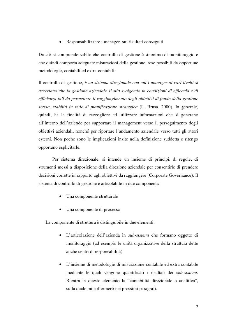 Anteprima della tesi: Il controllo di gestione e la misurazione della performance a supporto del cambiamento aziendale: dall'individuazione di problematiche alla ricerca di soluzioni, Pagina 4