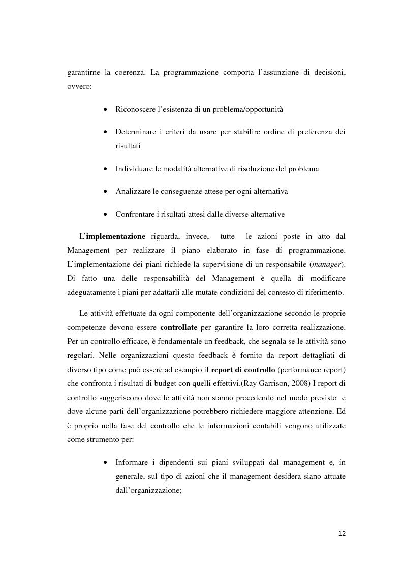 Anteprima della tesi: Il controllo di gestione e la misurazione della performance a supporto del cambiamento aziendale: dall'individuazione di problematiche alla ricerca di soluzioni, Pagina 9