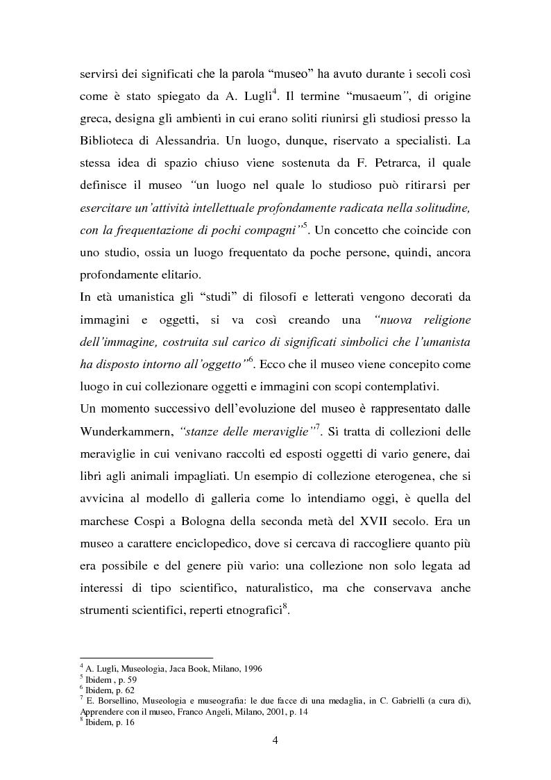 Anteprima della tesi: Musei artistici e percorsi didattici. Analisi di alcune esperienze di didattica museale nel territorio di Modena., Pagina 2