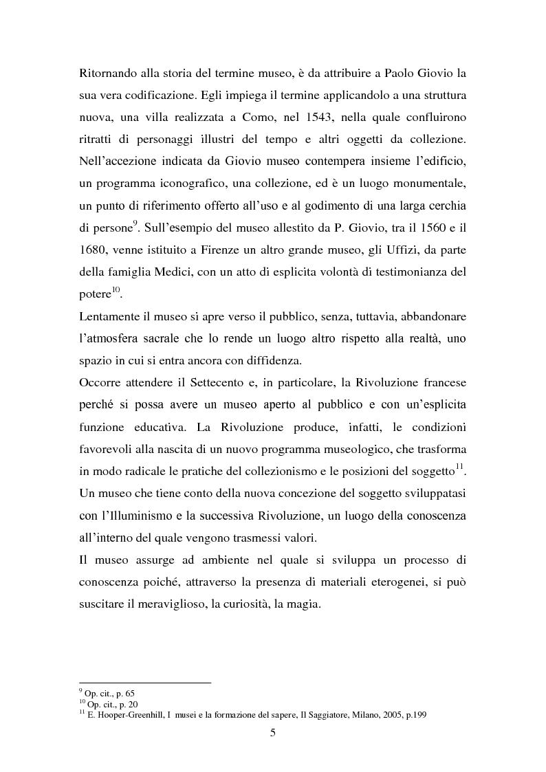Anteprima della tesi: Musei artistici e percorsi didattici. Analisi di alcune esperienze di didattica museale nel territorio di Modena., Pagina 3
