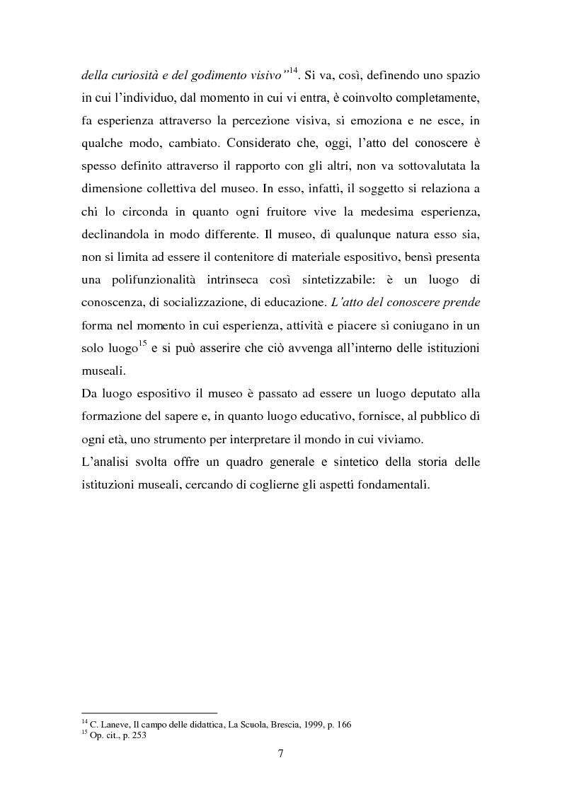 Anteprima della tesi: Musei artistici e percorsi didattici. Analisi di alcune esperienze di didattica museale nel territorio di Modena., Pagina 5
