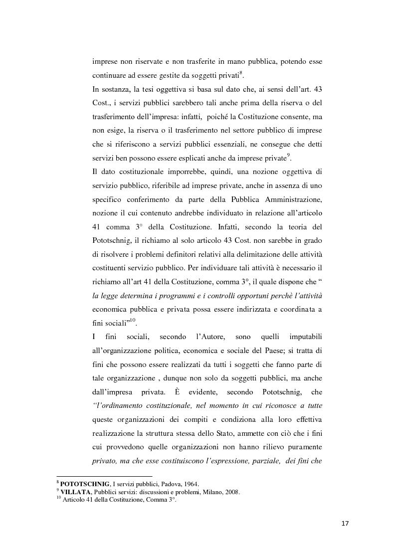 Anteprima della tesi: Il settore dell'energia elettrica tra obblighi di servizio pubblico e concorrenza, Pagina 11