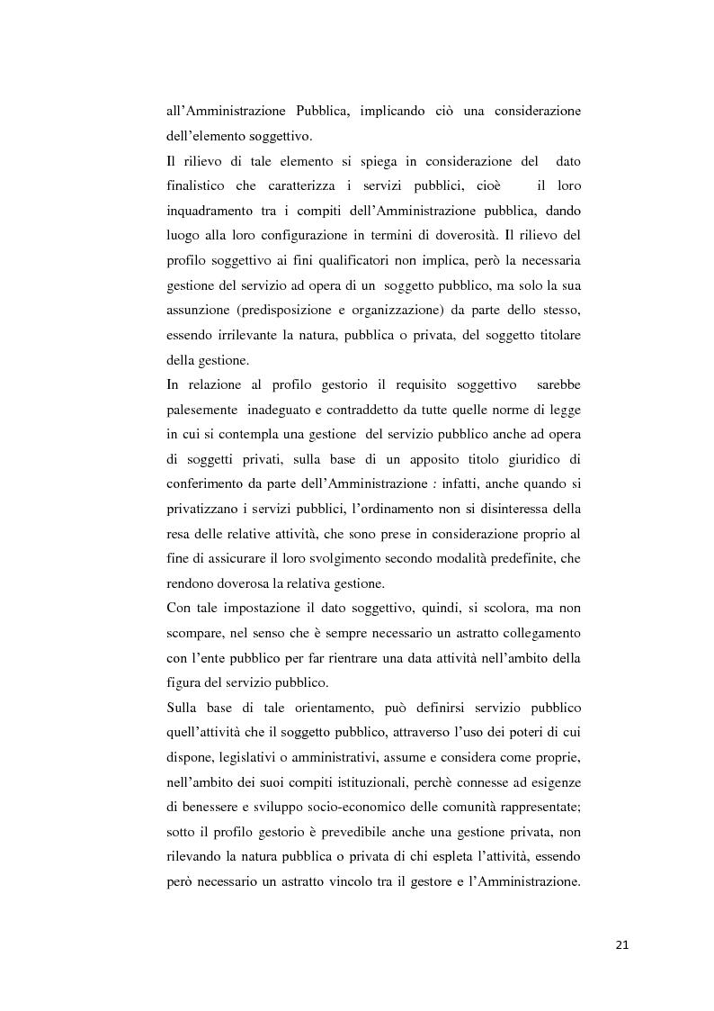 Anteprima della tesi: Il settore dell'energia elettrica tra obblighi di servizio pubblico e concorrenza, Pagina 15