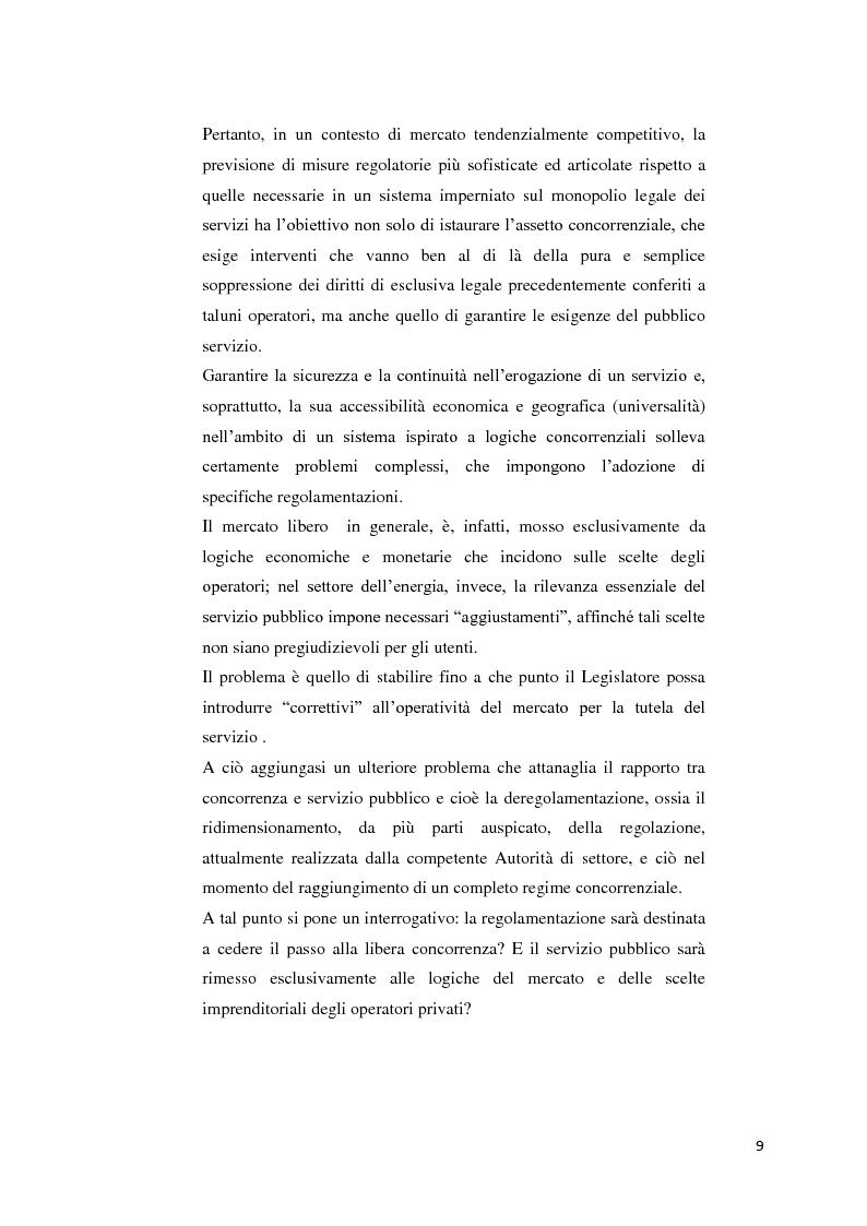 Anteprima della tesi: Il settore dell'energia elettrica tra obblighi di servizio pubblico e concorrenza, Pagina 3