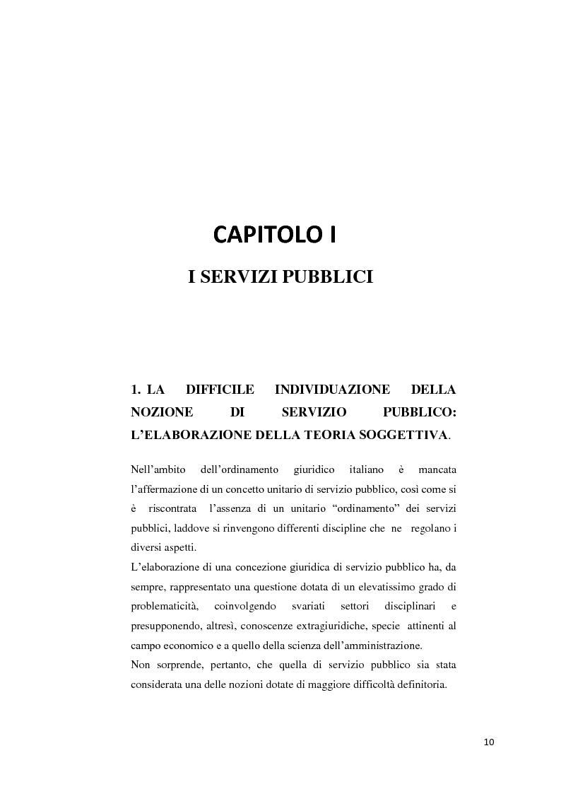 Anteprima della tesi: Il settore dell'energia elettrica tra obblighi di servizio pubblico e concorrenza, Pagina 4