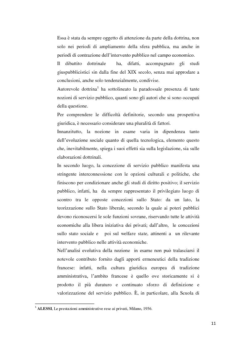 Anteprima della tesi: Il settore dell'energia elettrica tra obblighi di servizio pubblico e concorrenza, Pagina 5