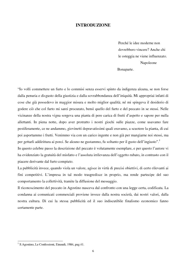 Anteprima della tesi: La pubblicità trasgressiva: analisi storica, interpretazione sociologica ed implicazioni manageriali, Pagina 1