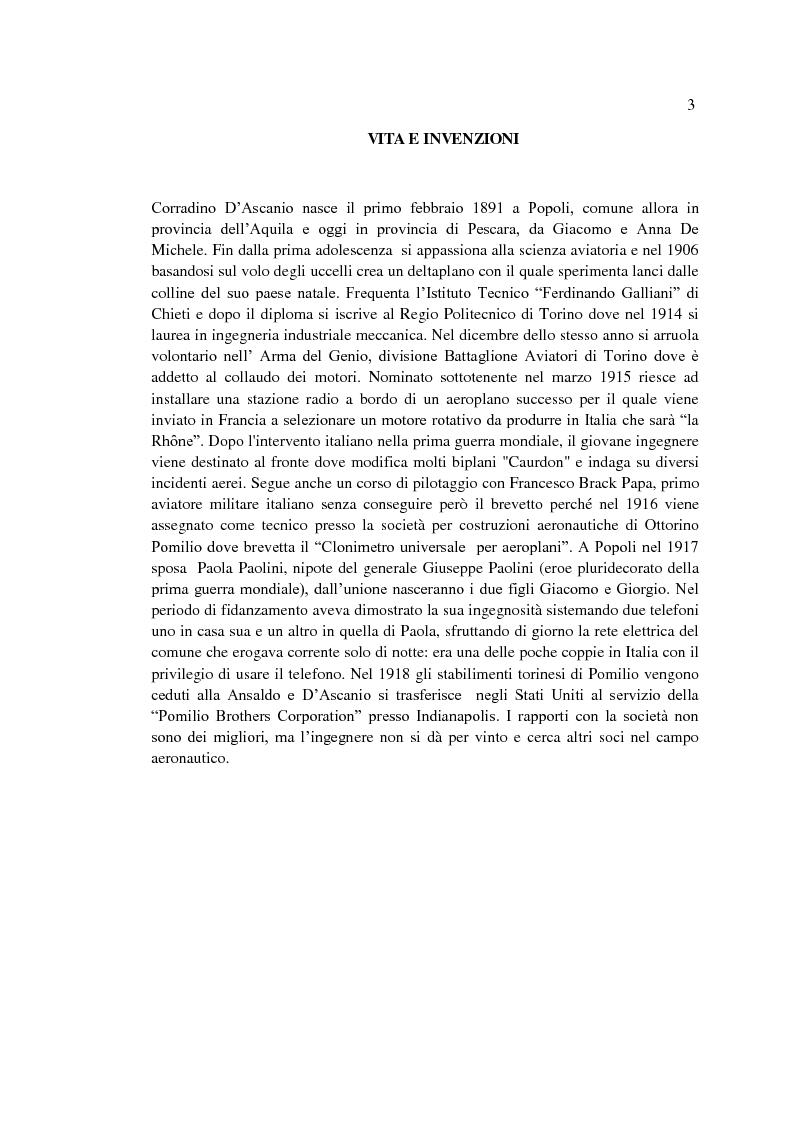 Anteprima della tesi: Il sogno di un inventore. Carteggio di Corradino D'Ascanio dal 1916 al 1943, Pagina 2