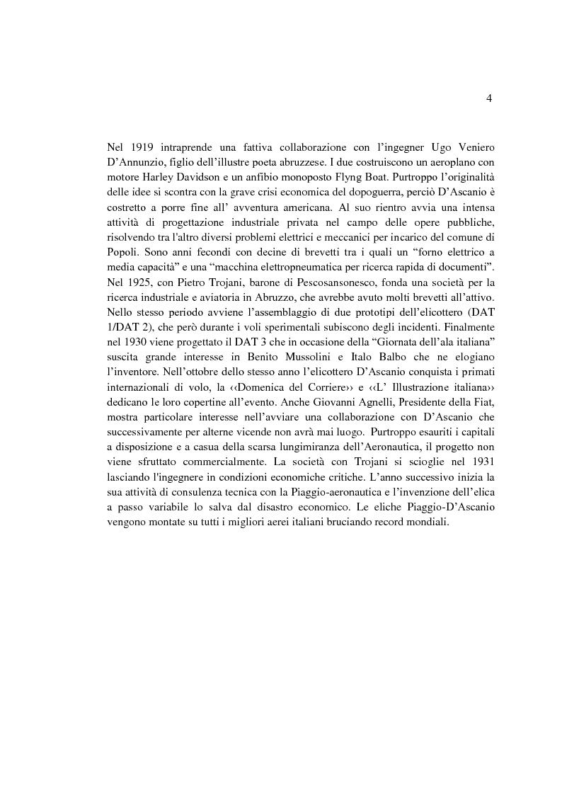 Anteprima della tesi: Il sogno di un inventore. Carteggio di Corradino D'Ascanio dal 1916 al 1943, Pagina 3