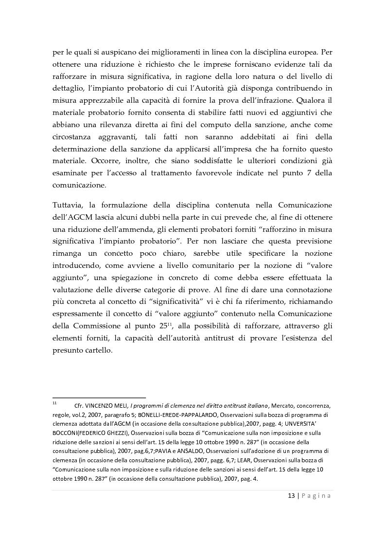 Estratto dalla tesi: La clemenza dell'autorità antitrust nei confronti delle imprese