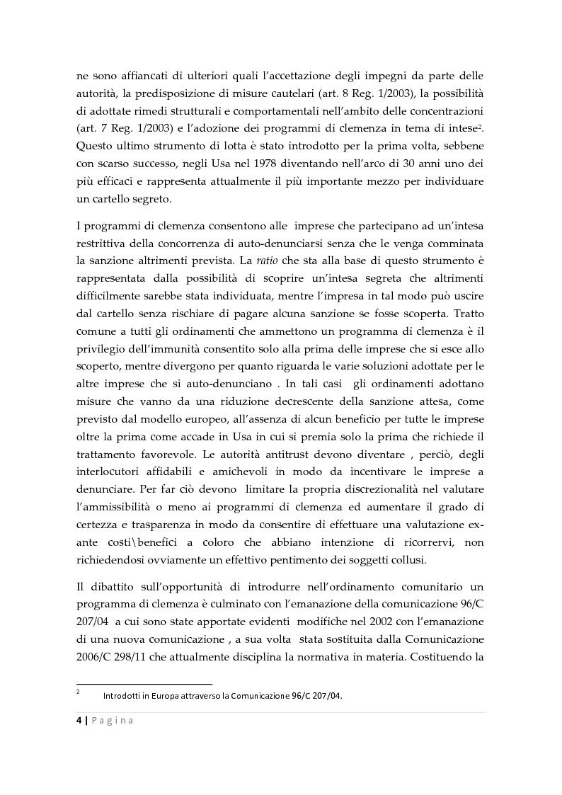 Anteprima della tesi: La clemenza dell'autorità antitrust nei confronti delle imprese, Pagina 2