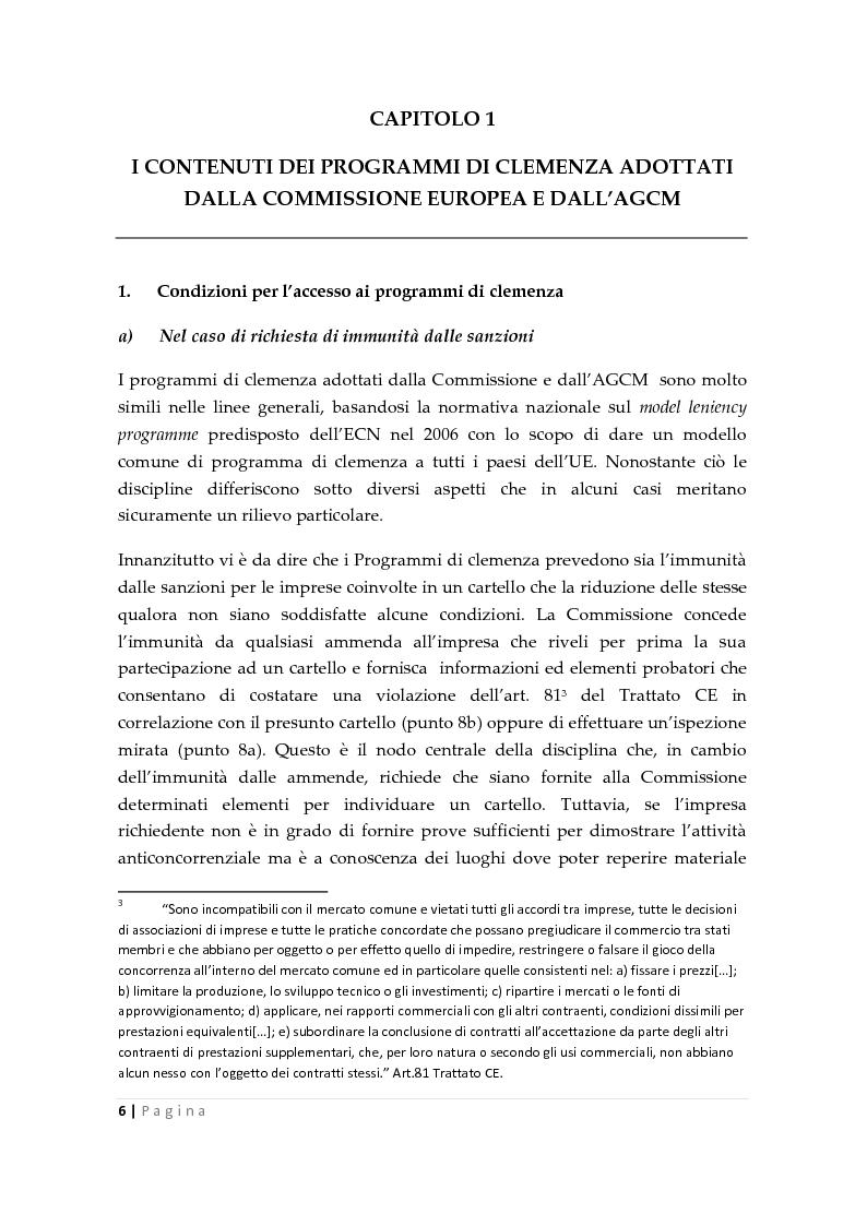 Anteprima della tesi: La clemenza dell'autorità antitrust nei confronti delle imprese, Pagina 4
