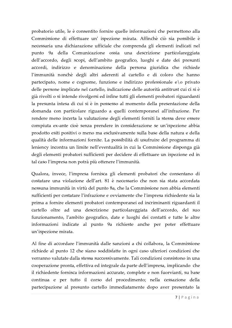 Anteprima della tesi: La clemenza dell'autorità antitrust nei confronti delle imprese, Pagina 5