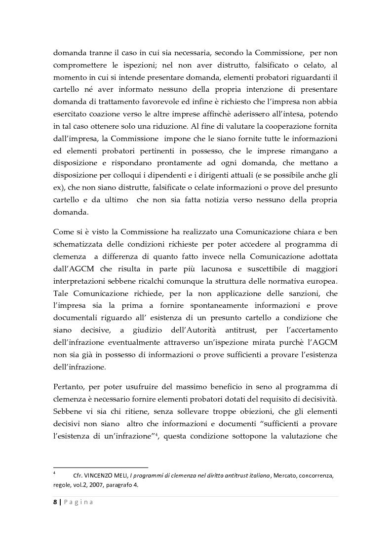 Anteprima della tesi: La clemenza dell'autorità antitrust nei confronti delle imprese, Pagina 6