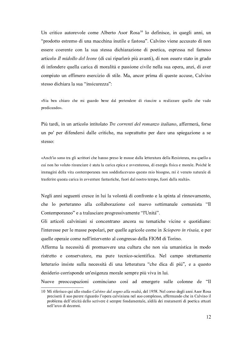 Estratto dalla tesi: I sentieri di Italo Calvino