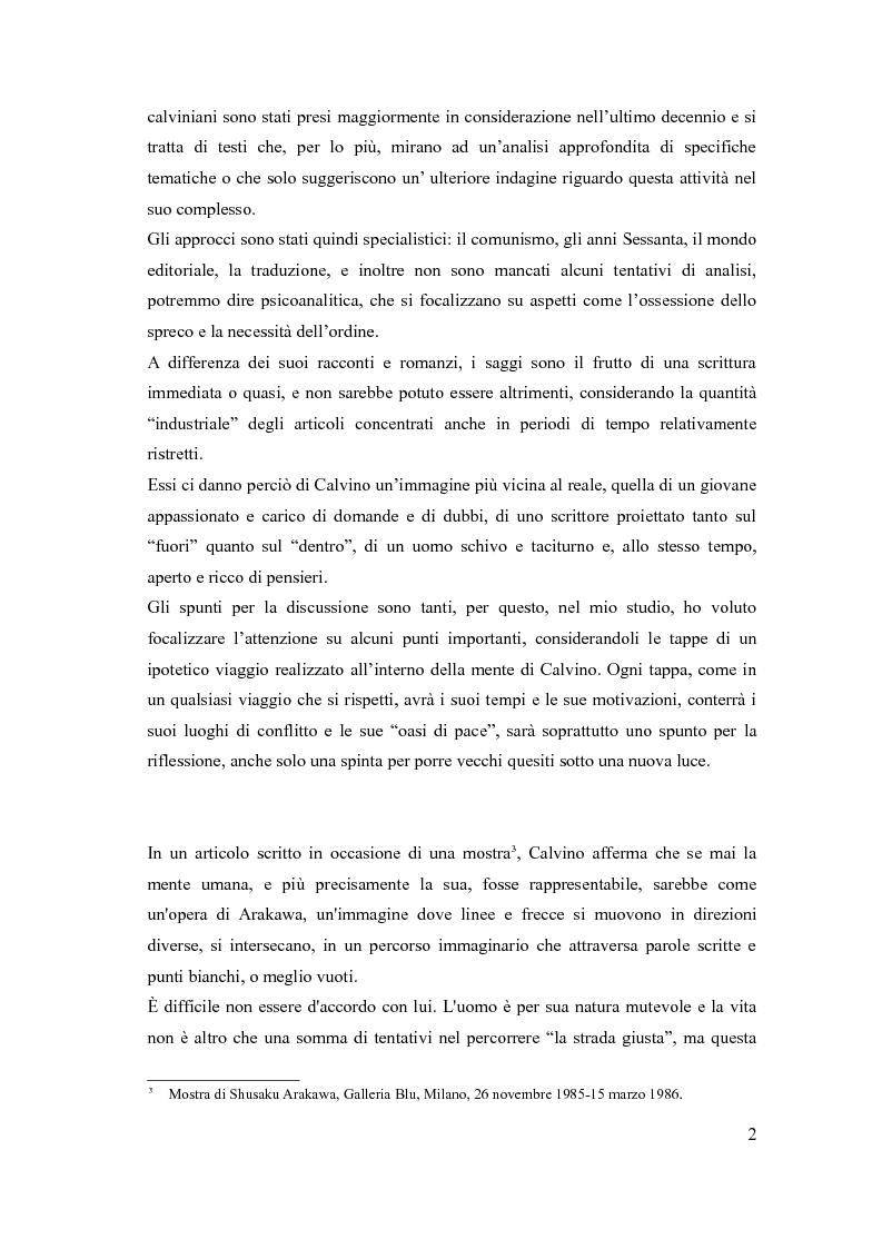 Anteprima della tesi: I sentieri di Italo Calvino, Pagina 2